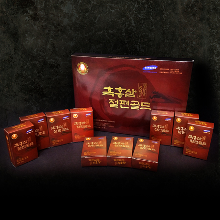 고려흑홍삼절편 골드 10P, Korean Black-Honey sliced Red Ginseng Gold 10P