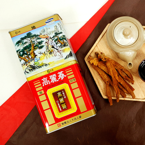[지삼] 6년근 고려홍삼 30지 300g, [Earth Grade Ginseng] 6-year-old Korean Red Ginseng  30 pieces 300g