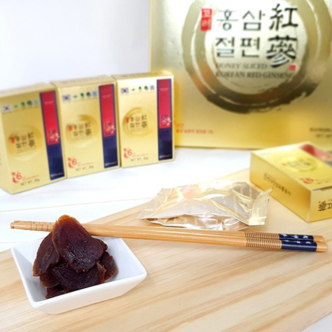 6년근 농축액 함유한 고려홍삼절편, Honey sliced Korean Red Ginseng containing 6-year-old concentrate