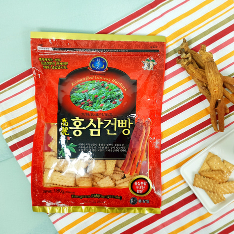 고려홍삼건빵 180g, Korean Red Ginseng Hard Tack 180g